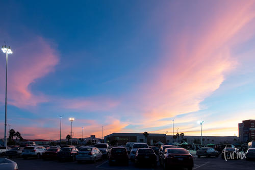 Se vió el cielo azul - rosado, 19:40