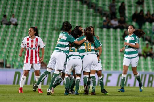 festejo de gol Santos