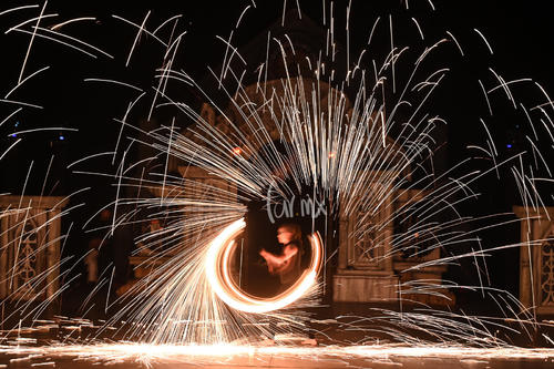 espectáculo de fuego