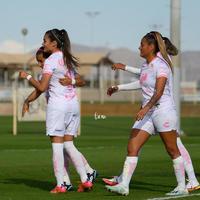 festejo de gol de Cinthya Peraza, Cinthya Peraza, Alexxandra