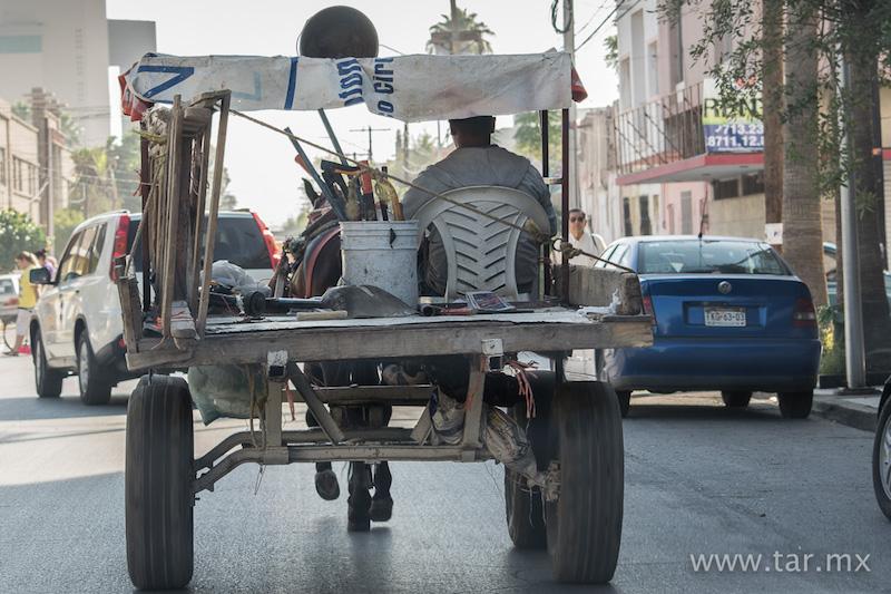 Carreta en la ciudad de Torreón, aún es común verlas por la ciudad.