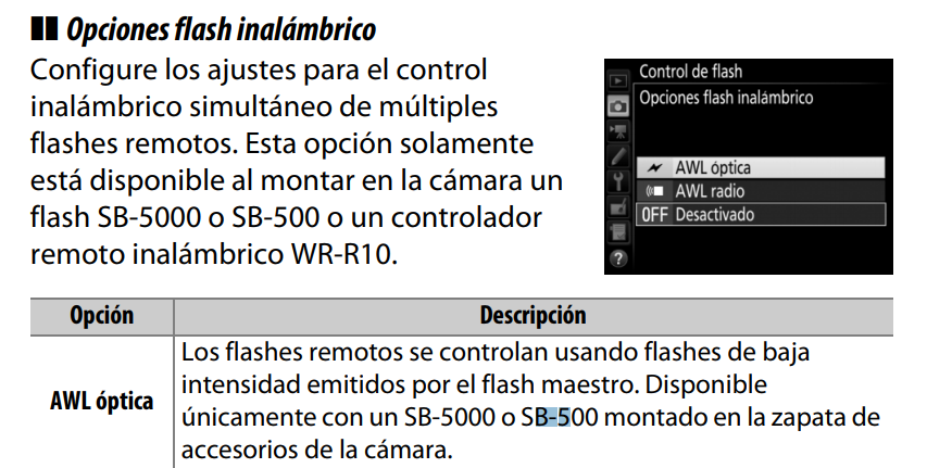 flash d500