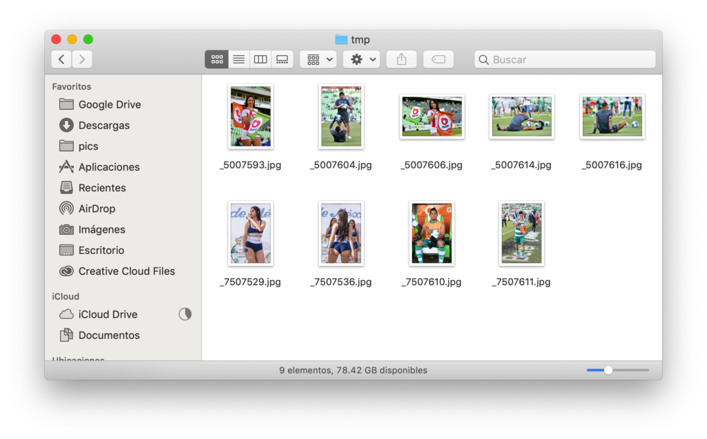 copiar listado de archivos