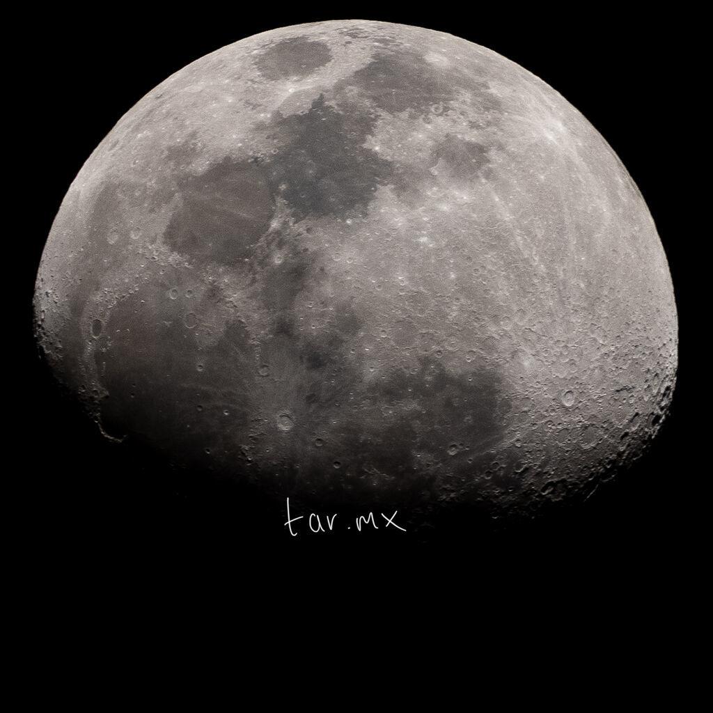 Luna vista desde Torreón, 16 de marzo de 2019